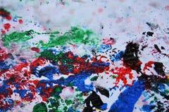 Abstrakt mörker - färger och toner för blåa grå färger för röd apelsinsvart rosa Våt målarfärgbakgrund för abstrakt begrepp Målni Royaltyfria Foton
