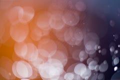 Abstrakt mörker och ljus - brun bokehbakgrund Royaltyfri Fotografi