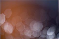Abstrakt mörker och ljus - brun bokehbakgrund Royaltyfri Bild