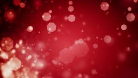 Abstrakt mörker - röd julbakgrund med defocused ljus för bokeh stock video