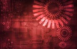 Abstrakt mörker - röd teknisk bakgrund vektor illustrationer