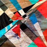 Abstrakt m?ngf?rgad geometrisk moderiktig bakgrund arkivbilder