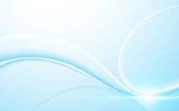 Abstrakt machen Sie Wellenlinie sauberen Designhintergrund des blauen Steigungsgeschäftstechnologiekonzeptes glatt Stockbilder