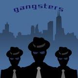 Abstrakt maffia- eller gangsterbakgrund royaltyfri illustrationer