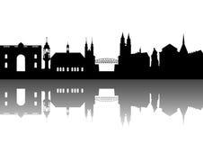abstrakt magdeburg silhouette Arkivbild