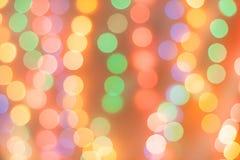 Abstrakt magisk bakgrund med julljus, färgrikt oskarpt Royaltyfri Bild