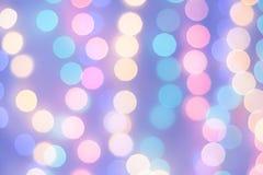 Abstrakt magisk bakgrund med julljus, färgrikt oskarpt Royaltyfria Bilder