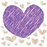 Abstrakt magisk färgrik hjärta på vit bakgrund Royaltyfri Bild
