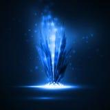 Abstrakt magisk kristall royaltyfri illustrationer