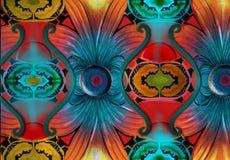 Abstrakt magnetfält Arkivbild