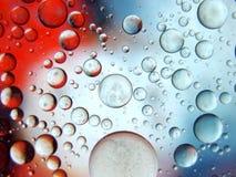 Abstrakt makro för vatten som och för olja stängs upp Royaltyfri Bild