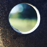 Abstrakt makrocirkel till och med metall Arkivfoto