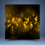 Abstrakt mall för guling och för svart vektor illustrationer
