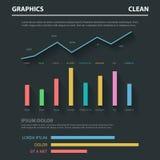 Abstrakt mall för infographics för affärslägenhetvektor: diagramgraf Arkivfoton