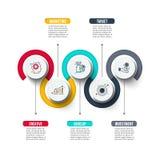 Abstrakt mall för infographicsnummeralternativ Arkivfoton