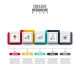 Abstrakt mall för infographicsnummeralternativ Royaltyfri Fotografi