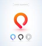 Abstrakt mall för logo för pekareorigamistil Applikationsymbol Fotografering för Bildbyråer