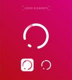 Abstrakt mall för logo för stil för bokstavsnolla-origami Cirkelapplicatio Royaltyfri Bild
