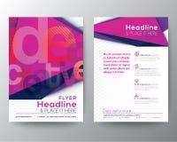 Abstrakt mall för orientering för design för triangelbroschyrreklamblad arkivfoto