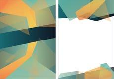 Abstrakt mall för orientering för design för triangelbroschyrreklamblad royaltyfria bilder