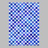 Abstrakt mall för sida för bakgrund för prickmodell - vektorillustration Royaltyfria Bilder