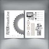 Abstrakt mall för vektor för broschyrreklambladdesign Royaltyfri Fotografi