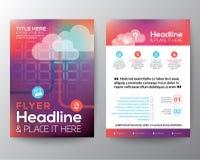 Abstrakt mall för vektor för orientering för broschyrreklambladdesign stock illustrationer