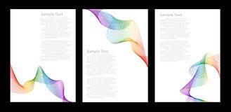 abstrakt mallar för bakgrundsfärgregnbåge Royaltyfri Fotografi