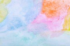 Abstrakt malujący akwareli tło Zdjęcie Royalty Free