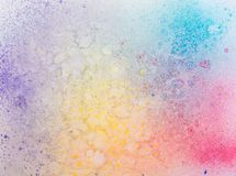 Abstrakt malujący akwareli tło na papierowej teksturze. Zdjęcia Royalty Free