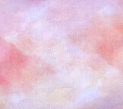 Abstrakt malujący akwareli tło na papierowej teksturze Obraz Stock