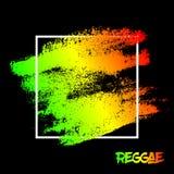 Abstrakt malujący porysowany tekstury tło EPS10 reggae ilustracyjni kolory zielenieją, kolor żółty, czerwień royalty ilustracja