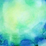 Abstrakt malujący akwareli tło Fotografia Royalty Free