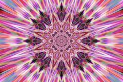 abstrakt mandala stock illustrationer