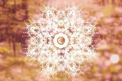 Abstrakt mandala med sakral geometri arkivfoton