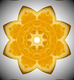 Abstrakt mandalaapelsinfoto Arkivfoto