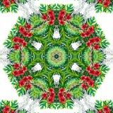 Abstrakt mandaladesignmall royaltyfri illustrationer