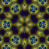 abstrakt mandalastjärna arkivfoto