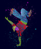 Abstrakt manlig dansare Arkivbild