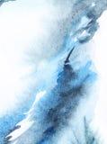 Abstrakt marinblå vit bakgrundstextur för vattenfärg Arkivbilder