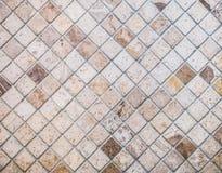 Abstrakt marmor texturerade mosaiktegelplattor Royaltyfri Bild