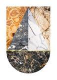 Abstrakt marmorcollage Arkivbild