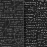 Abstrakt matematikbakgrund bak matt glass baner royaltyfri illustrationer