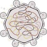abstrakt maze Royaltyfri Bild