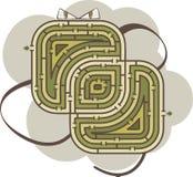 abstrakt maze Arkivbilder