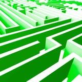 abstrakt maze 3d Arkivbilder