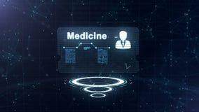 Abstrakt medicinskt kort med huvudskottet och tecknet av hj?rtahastigheten, tryck och n?gra andra diagram Kortet är över tre vektor illustrationer