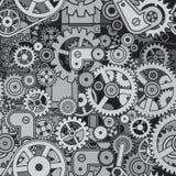 abstrakt mekanism Sömlös modellvektordesign royaltyfri illustrationer