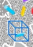 Abstrakt memphis bakgrund med 80 ` s Arkivbild