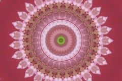 abstrakt menchie z zielonym ornamentem mandala, kalejdoskop (,) Zdjęcia Stock